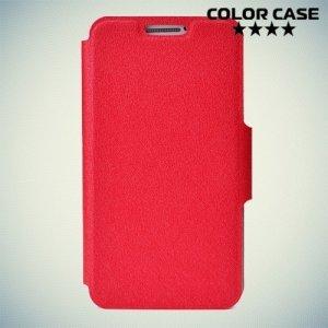 Чехол книжка для телефона 3.5-4 дюйма универсальный - красный