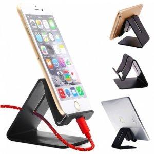 Универсальная настольная подставка для телефона алюминиевая - Черная