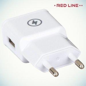 Универсальная зарядка 1А USB Red Line белая