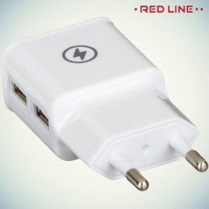 Универсальная зарядка для телефона 2.1А USB Red Line белая