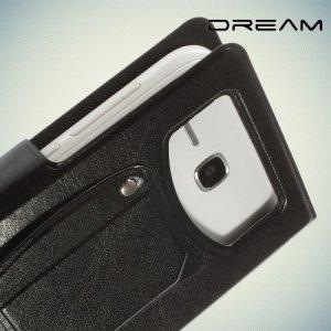 Универсальный чехол книжка для телефона 5.3–5.7 дюйма - Черный