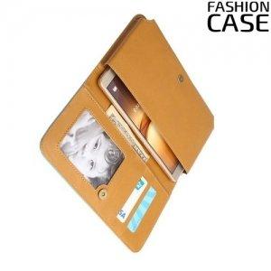 Универсальный чехол кошелек сумочка для телефона 6 дюймов - голубой