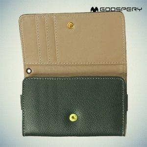 Универсальный чехол кошелек сумочка для телефона Goospery - зеленый
