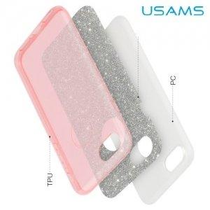 Usams Искрящийся блестящий чехол для iPhone 8/7 - Розовый