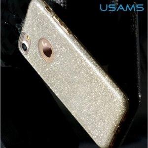 Usams Искрящийся блестящий чехол для iPhone 8/7 - Серебряный