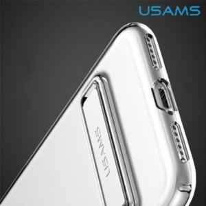 USAMS Bright Series Силиконовый прозрачный чехол с подставкой для iPhone 8/7