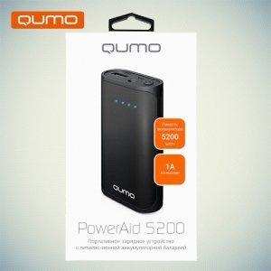 Внешний аккумулятор Qumo PowerAid 5200 mAh 1А USB черный