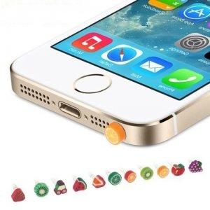 Заглушка затычка в разъём для наушников для телефона против пыли Фрукты