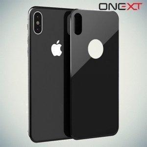 Закаленное защитное 3D стекло на заднюю панель для iPhone X - чёрный
