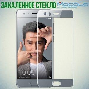 Закаленное защитное стекло для Huawei Honor 9 на весь экран - Серый
