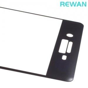 Закругленное 3D защитное стекло для Sony Xperia X на весь экран REWAN - Черный