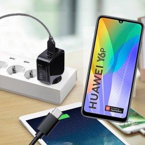 Зарядка для Huawei Y6p телефона 2.4А и USB кабель