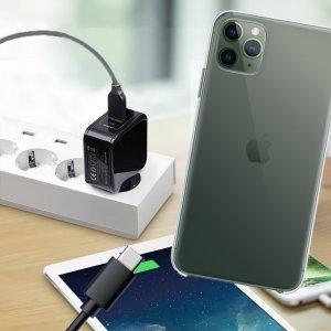 Зарядка для iPhone 11 Pro Max телефона 2.4А и USB кабель