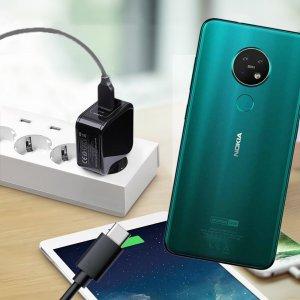 Зарядка для Nokia 7.2 телефона 2.4А и USB кабель