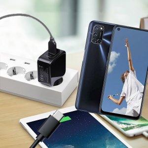 Зарядка для OPPO A52 / A72 телефона 2.4А и USB кабель