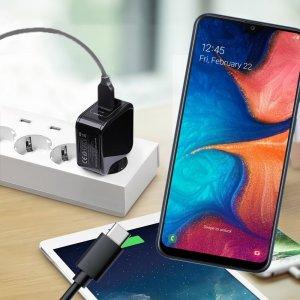 Зарядка для Samsung Galaxy A30 / A20 телефона 2.4А и USB кабель