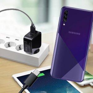 Зарядка для Samsung Galaxy A30s телефона 2.4А и USB кабель