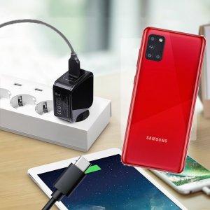 Зарядка для Samsung Galaxy A31 телефона 2.4А и USB кабель