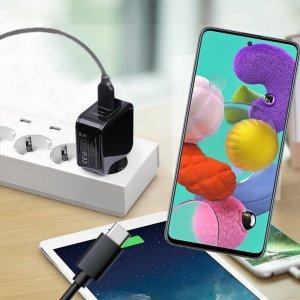 Зарядка для Samsung Galaxy A51 телефона 2.4А и USB кабель
