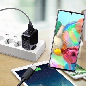 Зарядка для Samsung Galaxy A71 телефона 2.4А и USB кабель