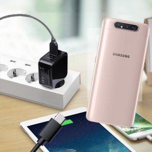 Зарядка для Samsung Galaxy A80 телефона 2.4А и USB кабель