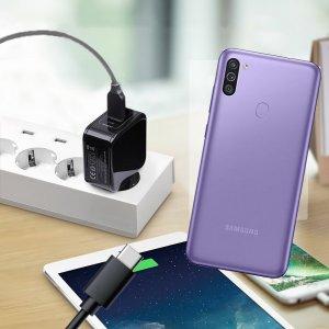 Зарядка для Samsung Galaxy M11 телефона 2.4А и USB кабель