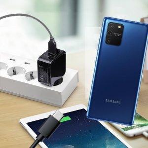 Зарядка для Samsung Galaxy S10 Lite телефона 2.4А и USB кабель