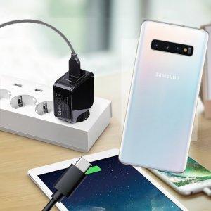 Зарядка для Samsung Galaxy S10 телефона 2.4А и USB кабель