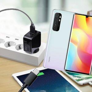 Зарядка для Xiaomi Mi Note 10 Lite телефона 2.4А и USB кабель