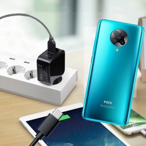 Зарядка для Xiaomi Poco F2 Pro телефона 2.4А и USB кабель