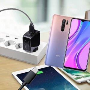 Зарядка для Xiaomi Redmi 9 телефона 2.4А и USB кабель