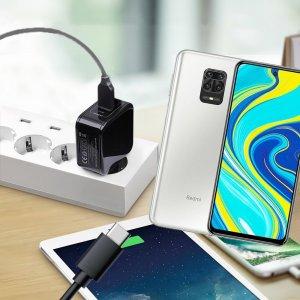 Зарядка для Xiaomi Redmi Note 9 Pro телефона 2.4А и USB кабель