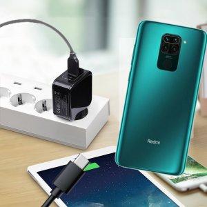 Зарядка для Xiaomi Redmi Note 9 телефона 2.4А и USB кабель