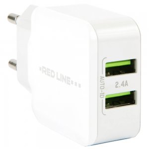 Зарядное устройство для телефона Red Line Y2 2.1А FAST CHARGING 2USB