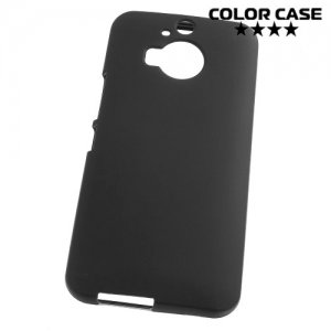 Матовый силиконовый чехол для HTC One М9 Plus - Черный