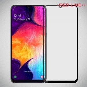 Защитное стекло для Samsung Galaxy A50 / A30 - Черный Red Line