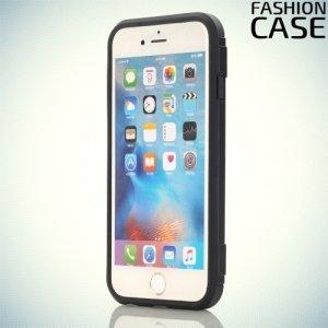 Чехол для iPhone 8/7 с подставкой и отделением для карты - Черный