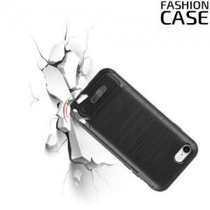 Защитный чехол для iPhone 8/7 с подставкой и отделением для карты - Черный