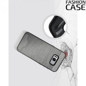 Защитный чехол для Samsung Galaxy S8 Plus с подставкой и отделением для карты - Серый