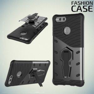 Защитный чехол с поворотной подставкой для Huawei Honor 7X - Серый