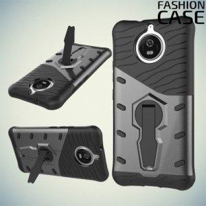 Защитный чехол с поворотной подставкой для Motorola Moto G5S - Серый
