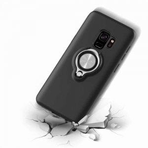 Защитный чехол с поворотной подставкой для Samsung Galaxy S9 - Черный