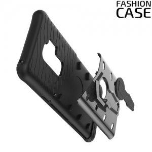 Защитный чехол с поворотной подставкой для Samsung Galaxy S9 Plus - Серый