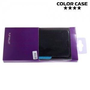 Зеркальный чехол книжка ColorCase с функцией Clear View Cover для Samsung Galaxy A5 2016 - Черный