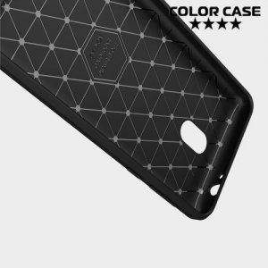 Жесткий силиконовый чехол для Nokia 2 с карбоновыми вставками - Коралловый