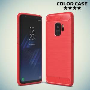 Carbon Силиконовый матовый чехол для Samsung Galaxy S9 - Коралловый