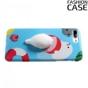 3D силиконовый чехол антистресс для iPhone 8 Plus / 7 Plus - Морской котик