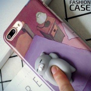 3D силиконовый чехол антистресс для iPhone 8 Plus / 7 Plus - Спящий котик