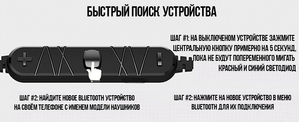Awei A920BL беспроводные bluetooth наушники гарнитура – Черный